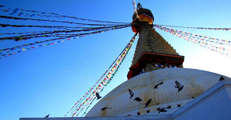 Bodnath, Népal, Vallée de Katmandou.