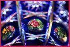Böhmisches Glas und Blumen