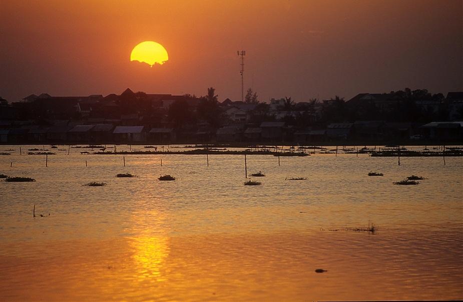 Boeng Kak Lake im Zentrum von Phnom Penh