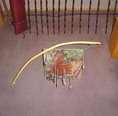 Bogenschießen im Wohnzimmer
