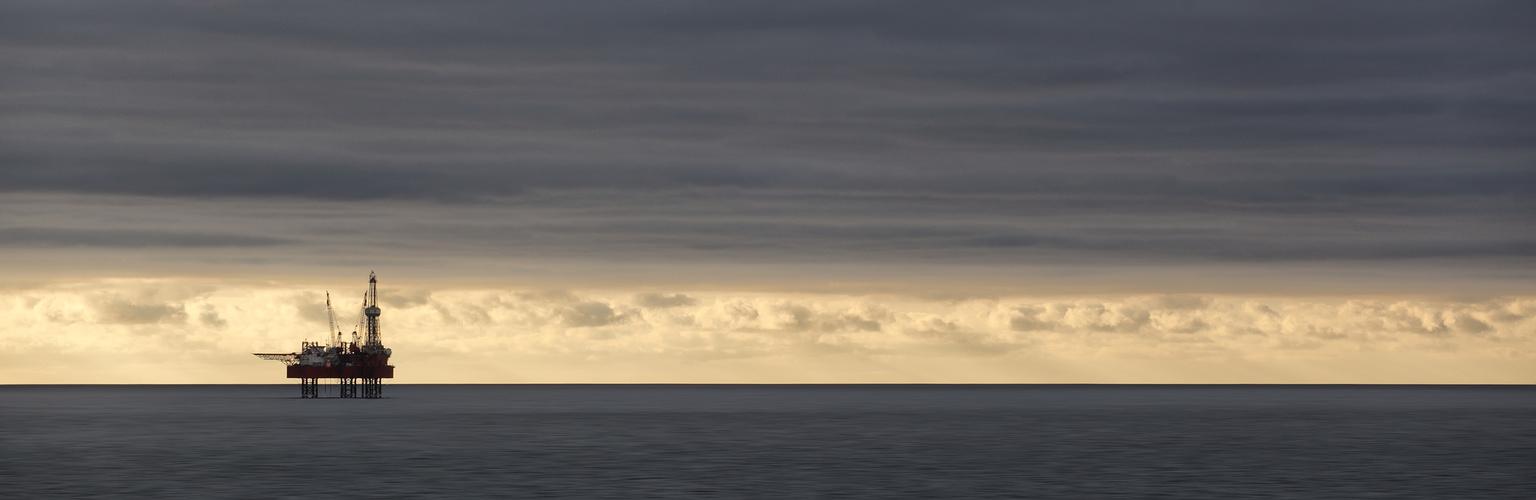 Bohrinsel in der Ostsee