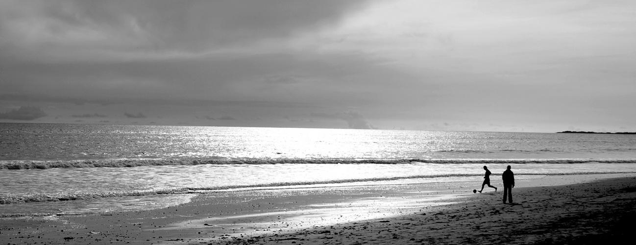 Bol d'air sur le sable