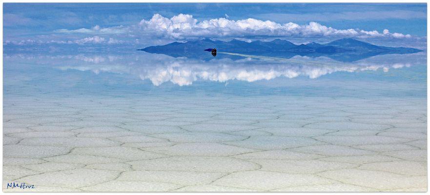 BOLIVIA - Sobre el salar inundado