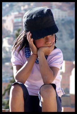 Bolivian little girl