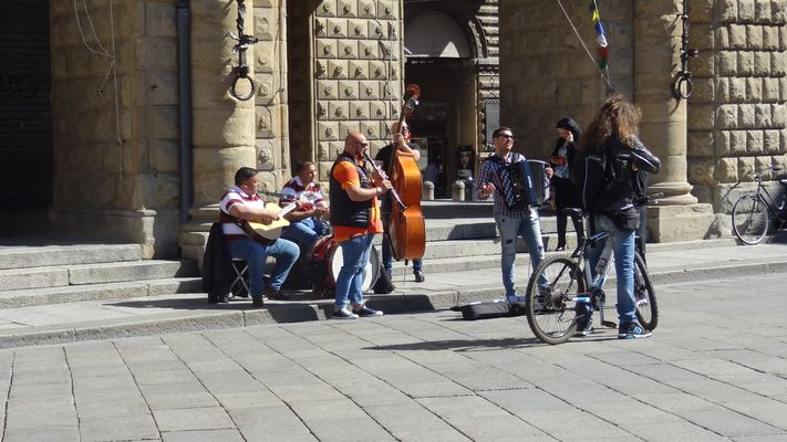 Bologne-Les musiciens de rue