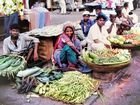 Bombay 1977 - Gemüsemarkt auf der Straße
