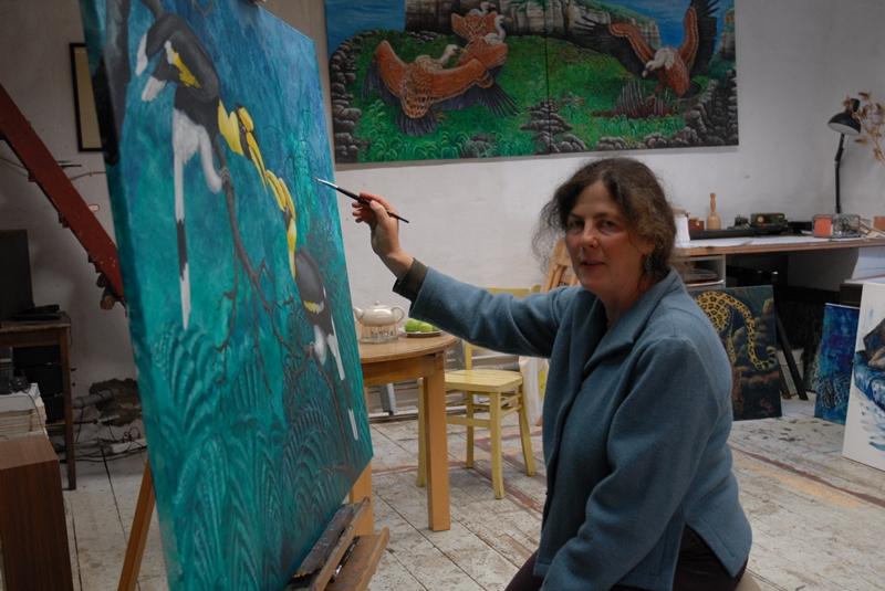 Bonner Malerin in ihrem Atelier