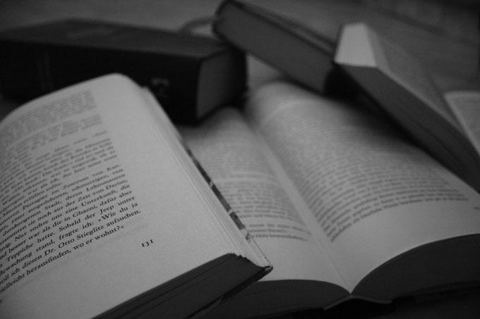 Books, black and white
