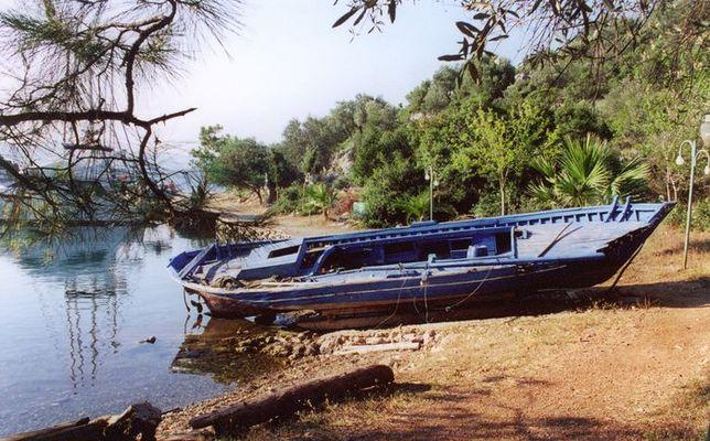 Boot blau