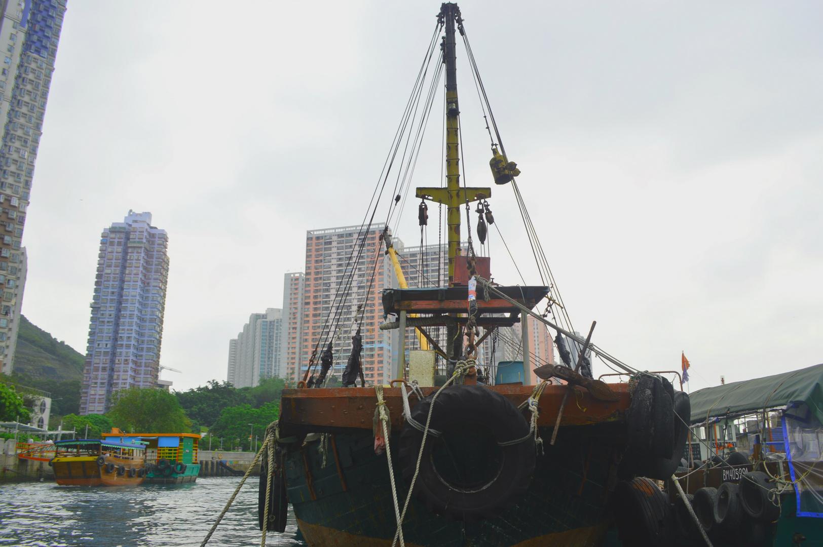 Boot im Hafen Hongkongs´