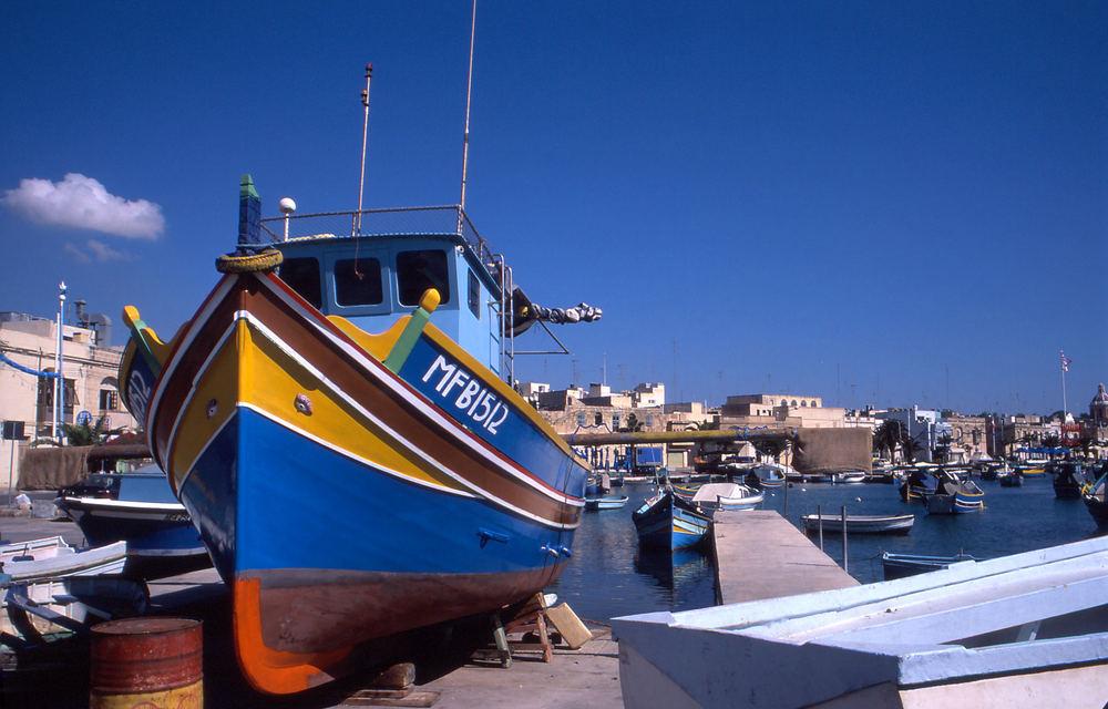 Boot im Hafen von Marsaxlokk