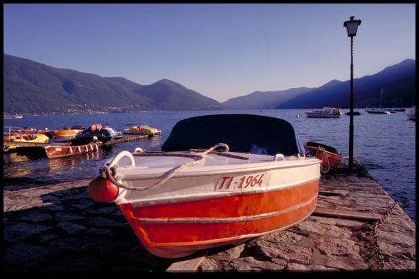Boot in Ascona
