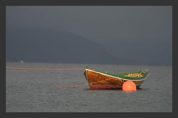 Boot in der Abendsonne