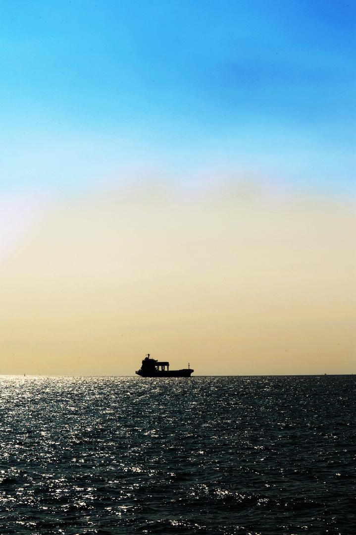 Boot in der Dämmerung