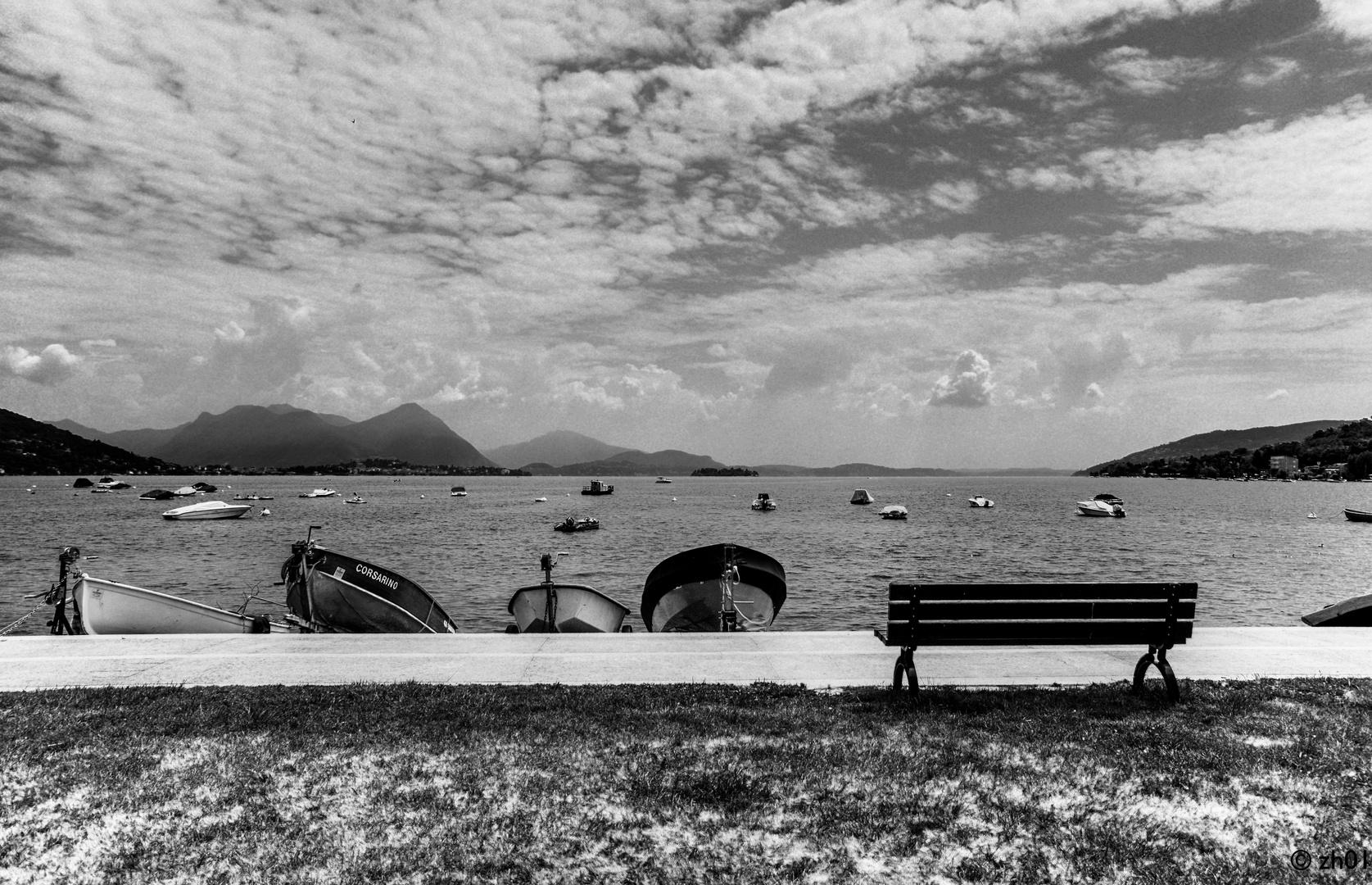 Boote am Lago Maggiore