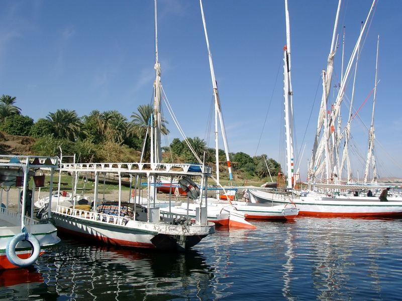 Boote am Nil