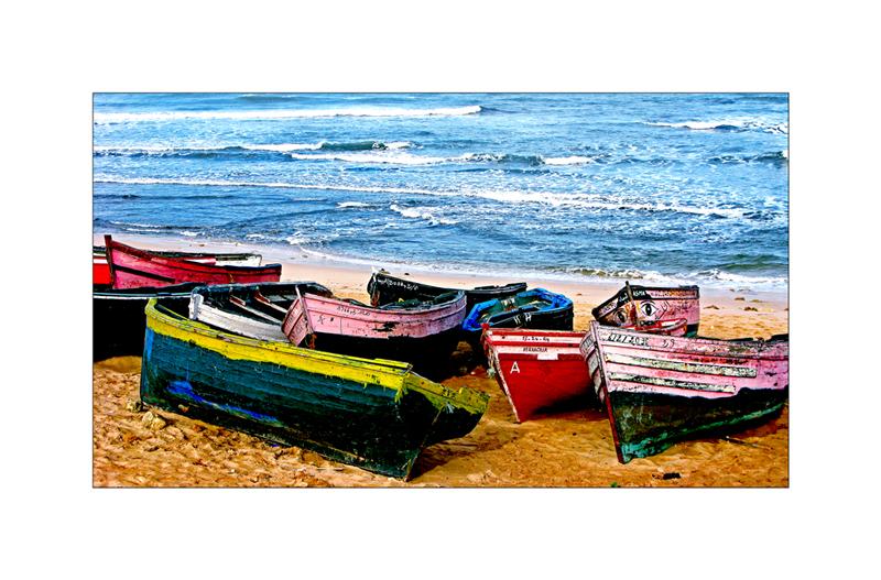 Boote am Strand