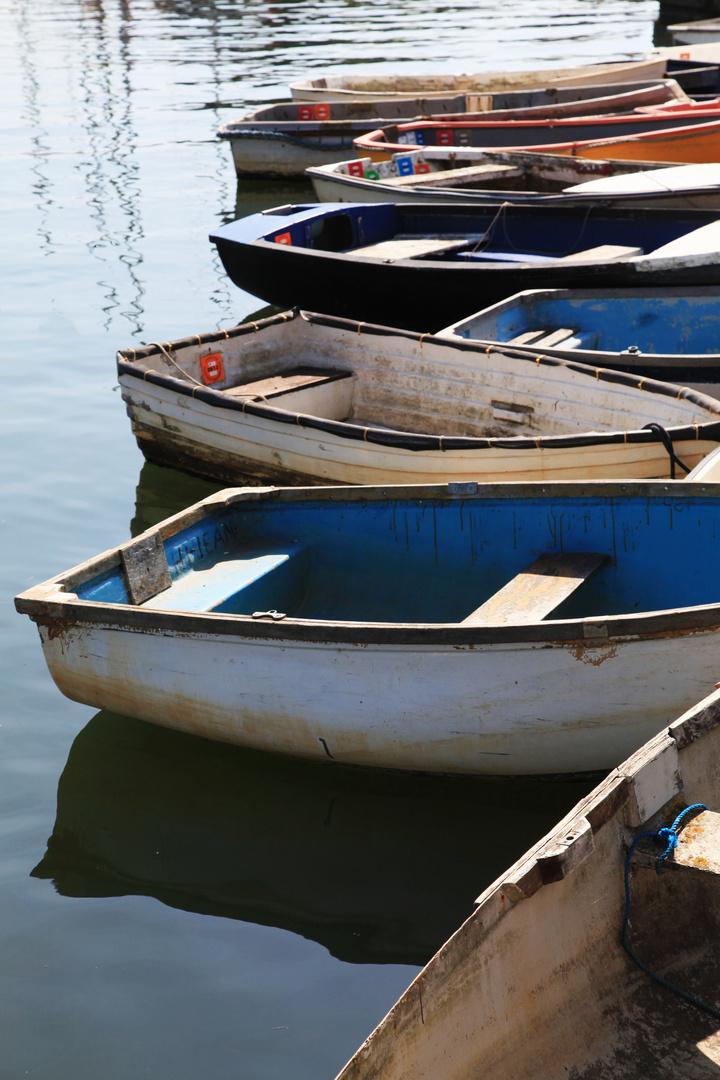Boote im Hafen....