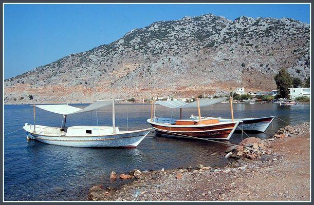 Boote im Hafen von Selimiye (Türkei)