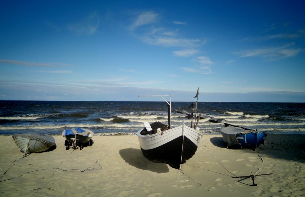 Boote im Wind