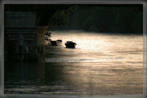Boote in der Abenddämmerung