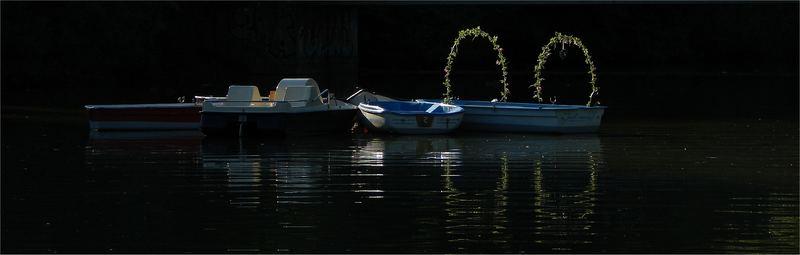 Boote in einem See von Berlin