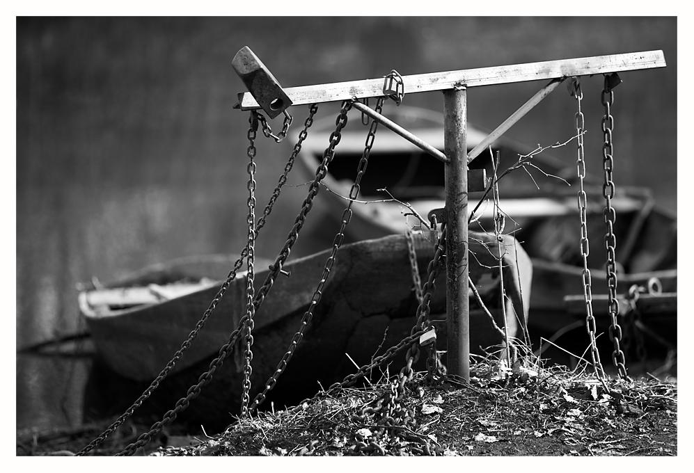 Boote in Ketten