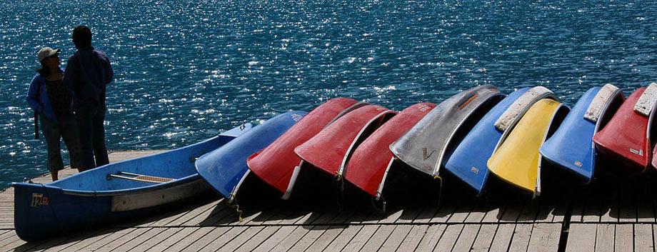 Boote, Moraine Lake