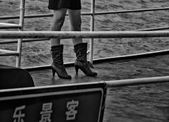 boots on a river