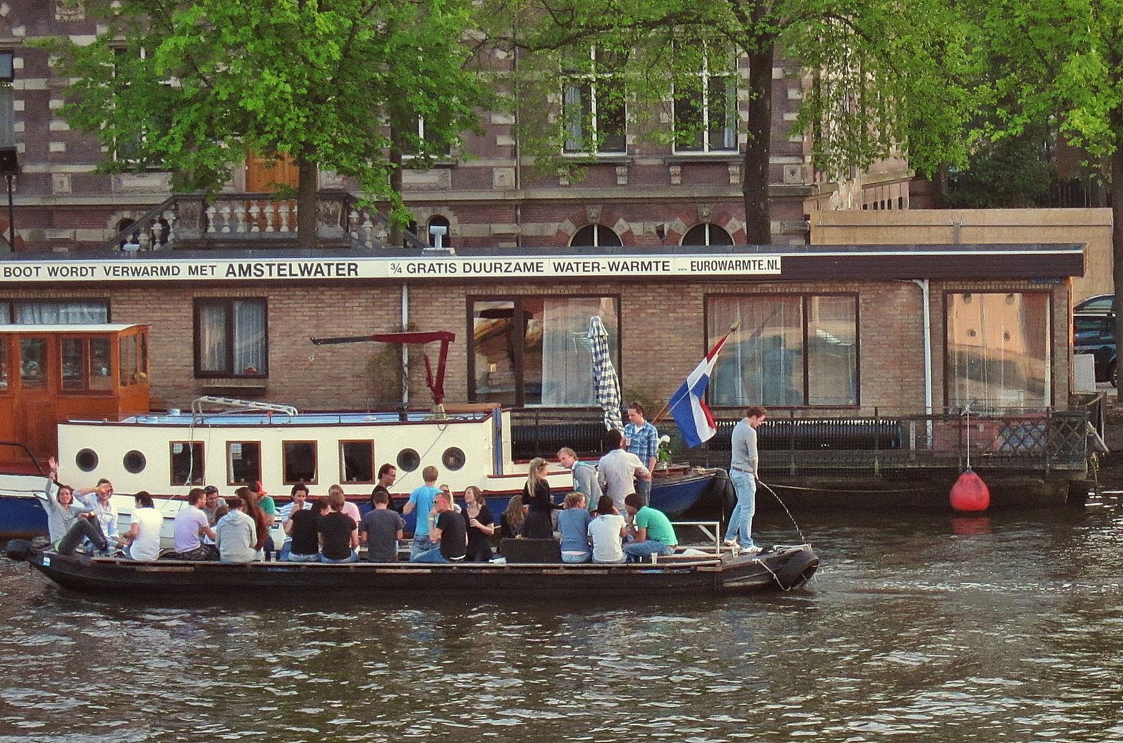 Bootsausflug auf der Amstel in Amsterdam