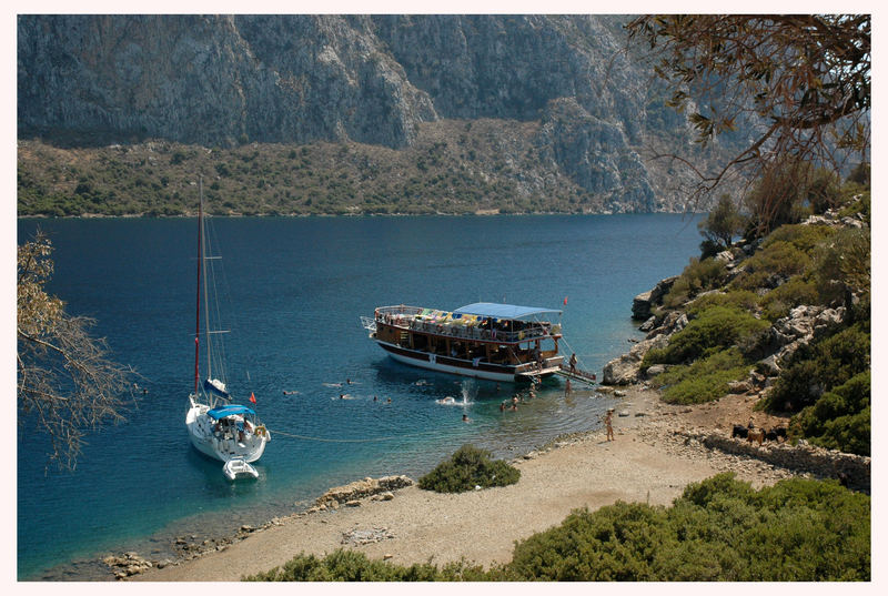 Bootsausflug in den Buchten von der türkischen Ägäis