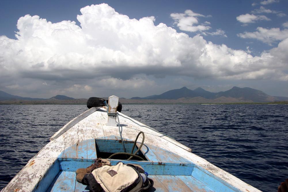 Bootsfahrt auf Bali