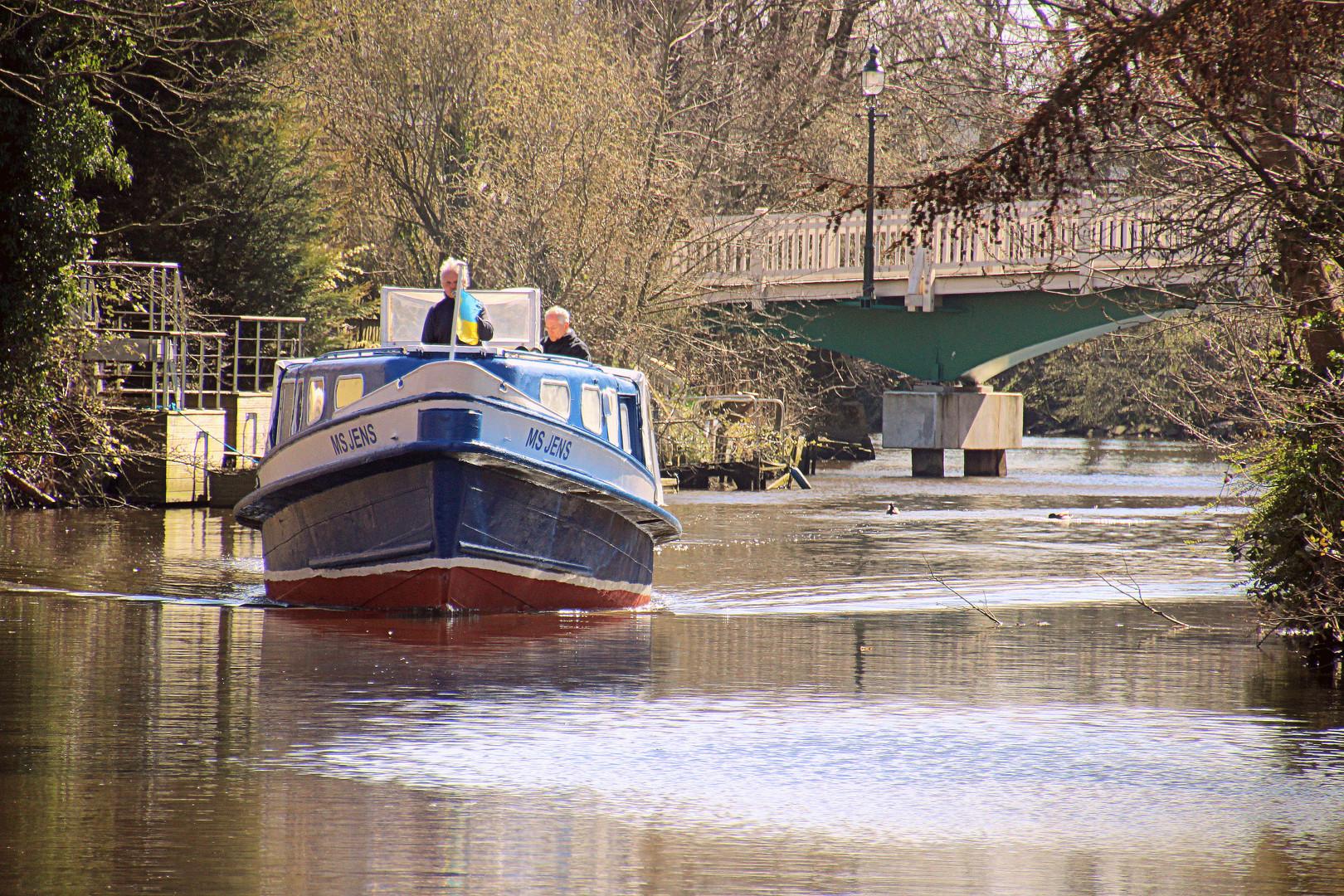 Bootsfahrt auf der Medem