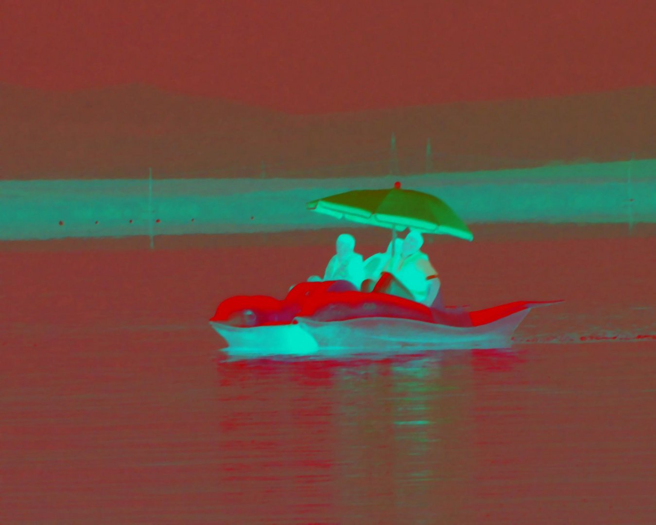 Bootsfahrt im Regen