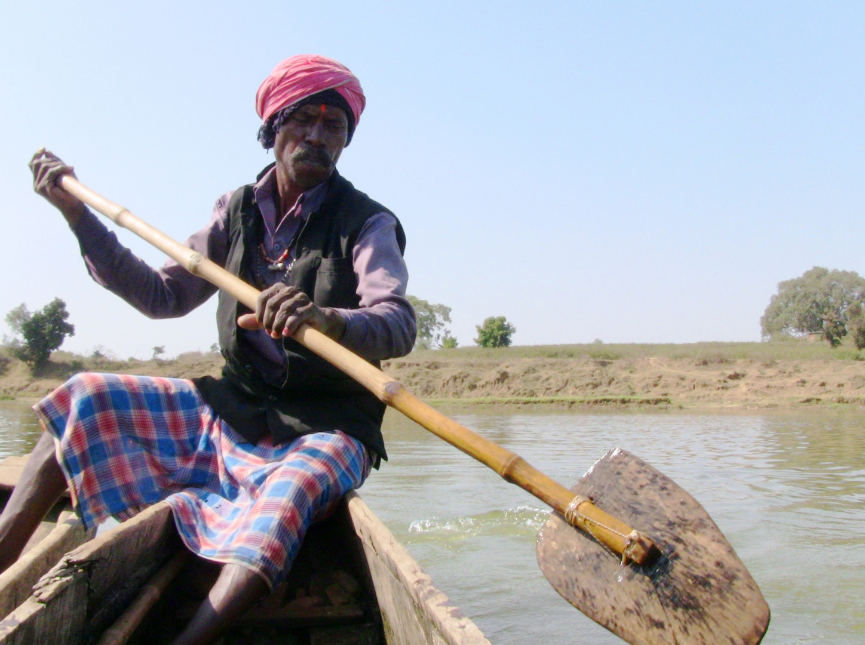 Bootsfmann in Indien