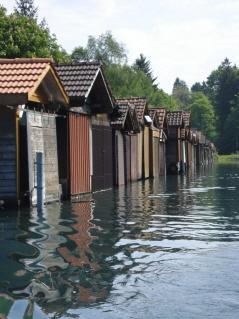 Bootshäuser auf dem Thunersee