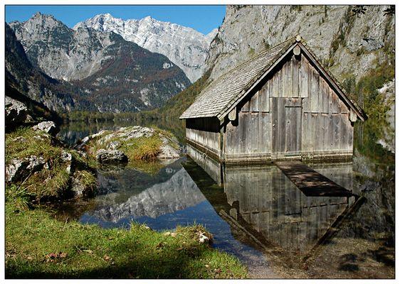 Bootshaus an der Fischunkel-Alm, Königssee - Obersee