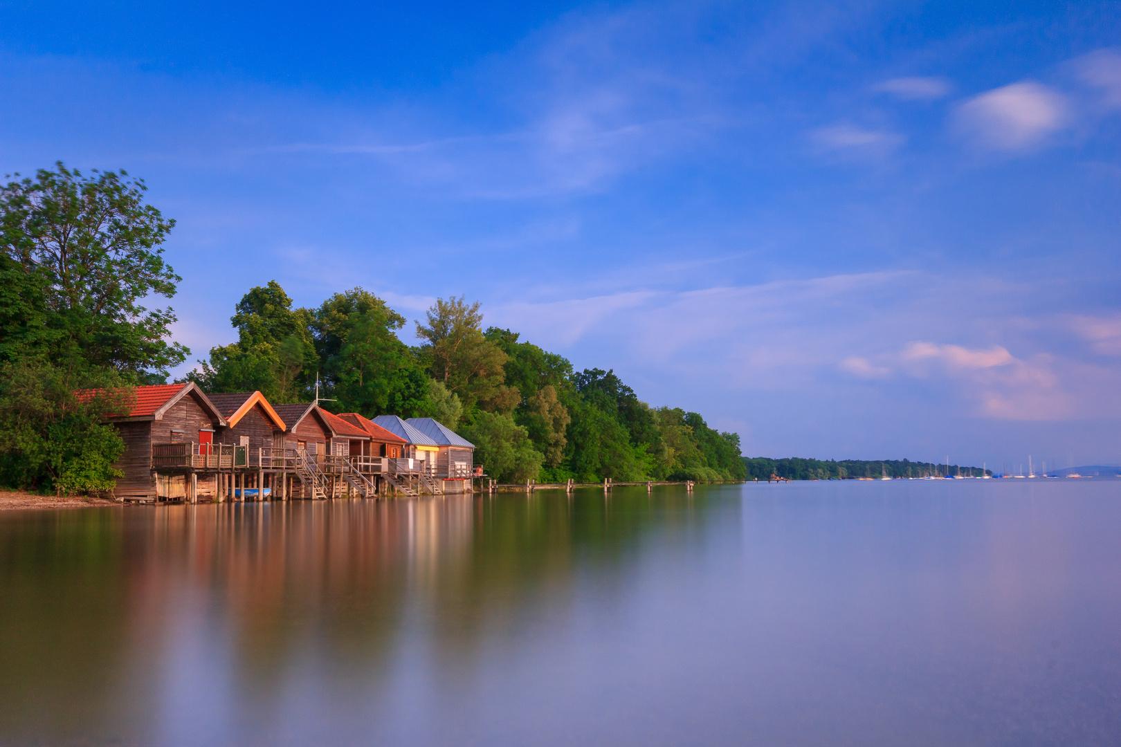 Bootshütten am Ammersee