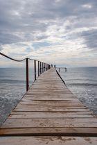 Bootssteg am Meer