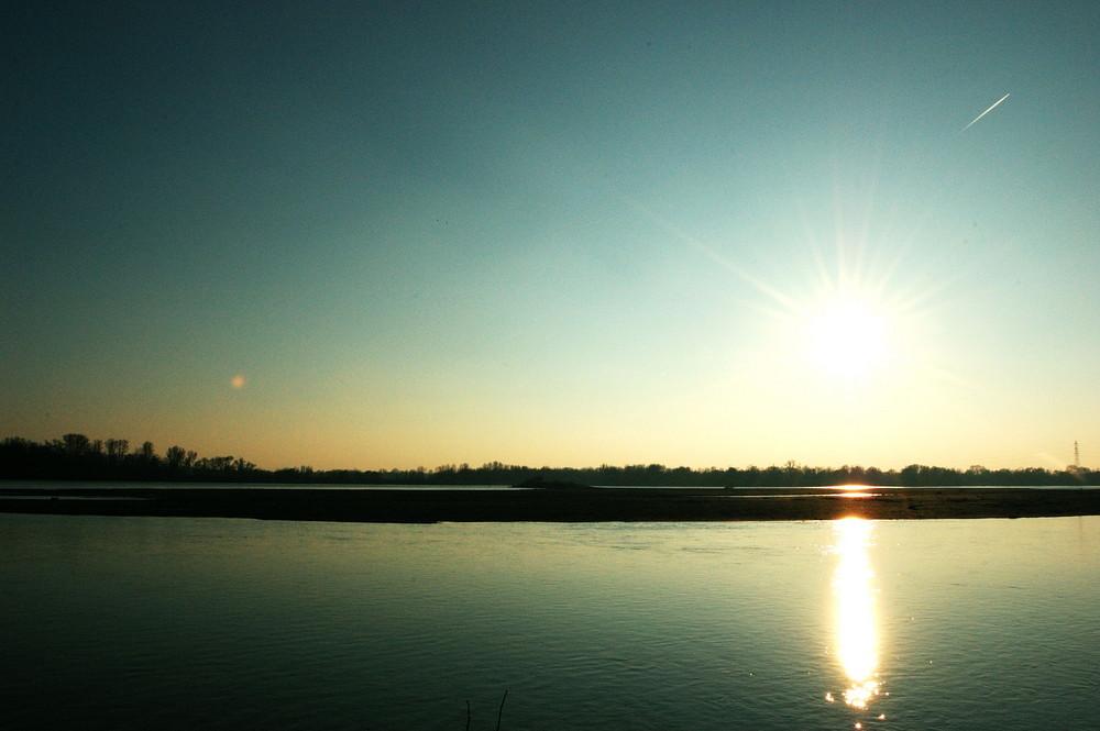 Bords de Loire au coucher du soleil
