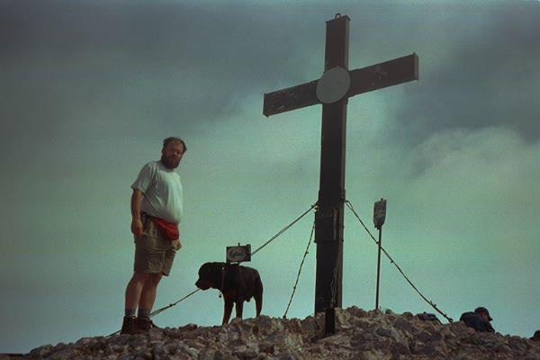 Boris am Gipfel
