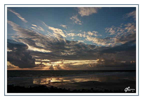 Borkum 2008 - Sonnenuntergang am Nordstrand