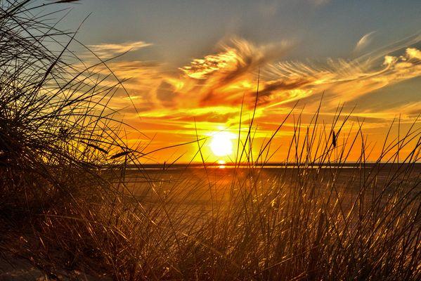 Borkum 2016 - Heutiger Sonnenuntergang am Nordstrand
