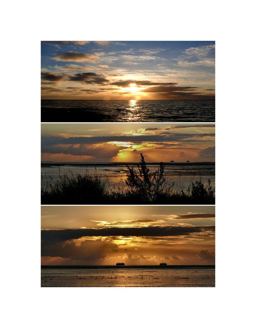"""Borkum-Collage: """"Wenn die Sonne schlafen geht"""""""