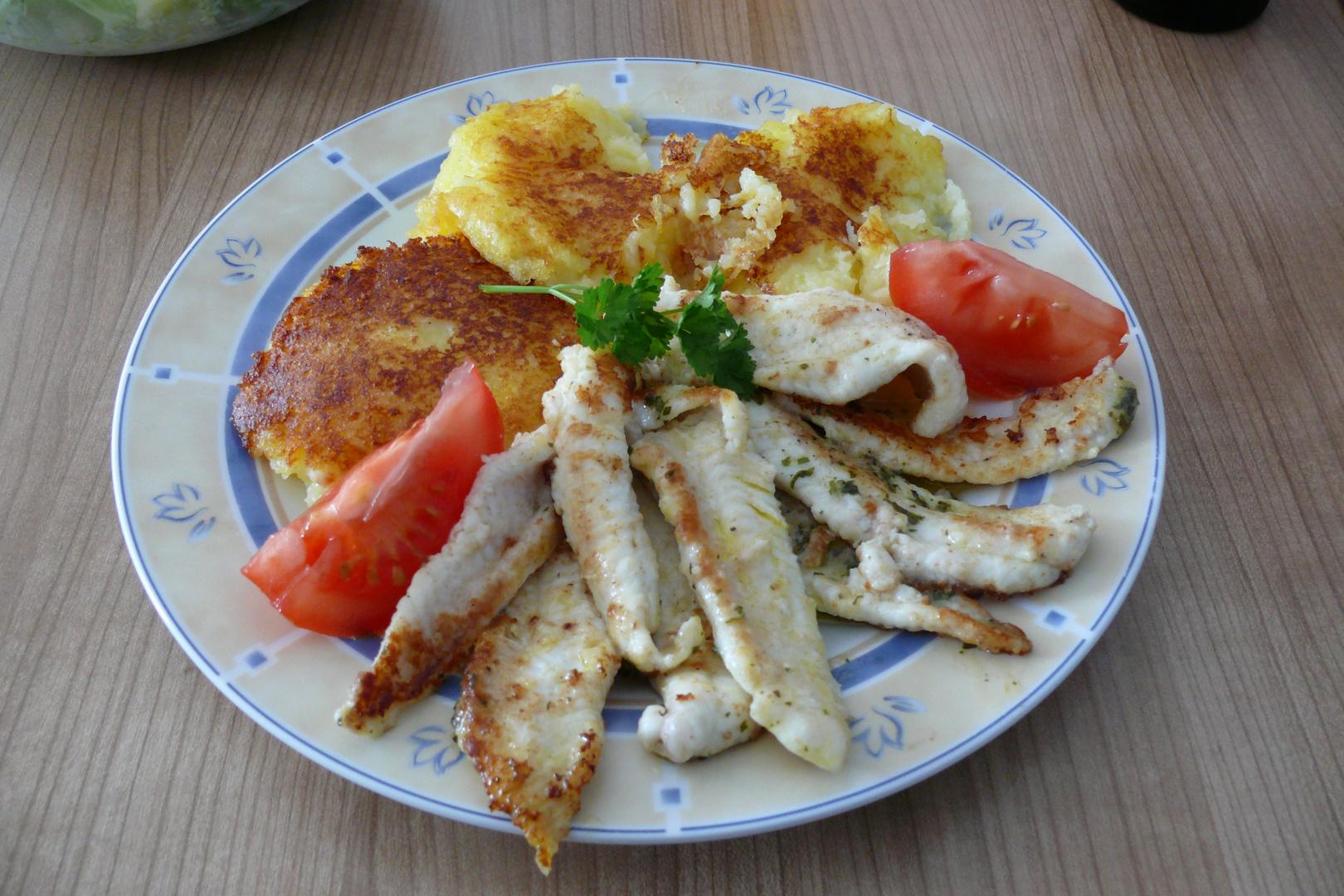 Borkum - Gebratenes Schollenfilet aus eigener Küche