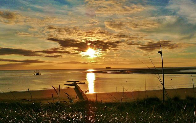 Borkum - Sonnenuntergang heute