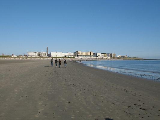 Borkum , Strandpromenade