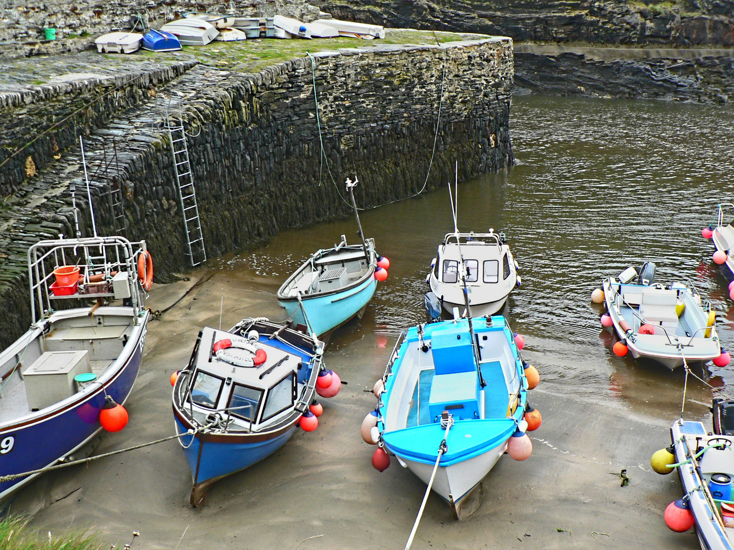 Boscastle Harbour and the Stone Walls from the 16th Century.