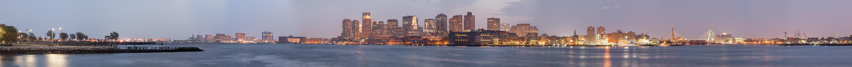 Boston - Night Panorama 3000