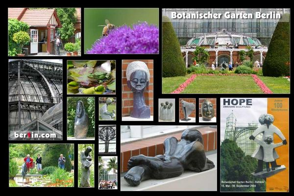 Botanischer Garten Berlin 2004, HOPE Ausstellung, Skulpturen, Fotolocation